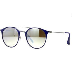 RayBan Unisex Round Steel Sunglasses